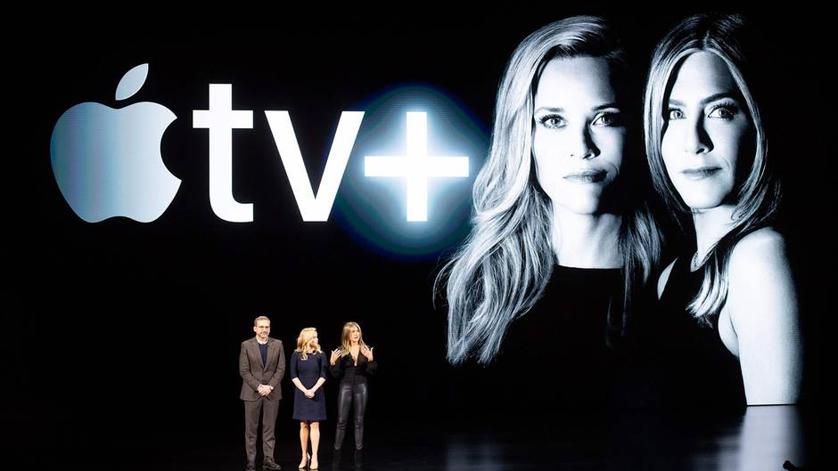 Reese Witherspoon und Jennifer Aniston treten beim Apple Event auf
