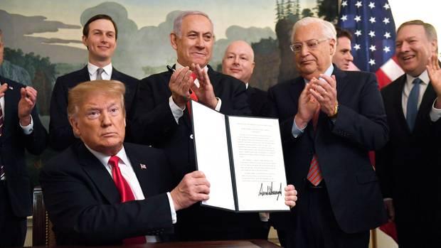 Formelle Anerkennung der Golanhöhen - Donald Trump legt eine Kerhtwende in der US-Außenpolitik hin