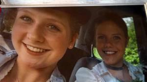 Ein Erinnerungsfoto der Familie:Ramona Daxlberger (15) und Melanie Rüth (21)vor ihrem Unfall.