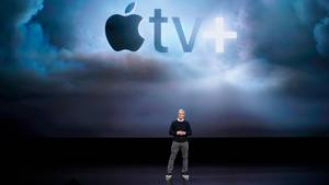 """Apple-Chef Tim Cook stellt mit """"Apple TV+"""" einen eigenen Streamingdienst vor"""