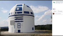 Sternwarte in Zweibrücken ist wie R2D2 aus Star Wars angemalt