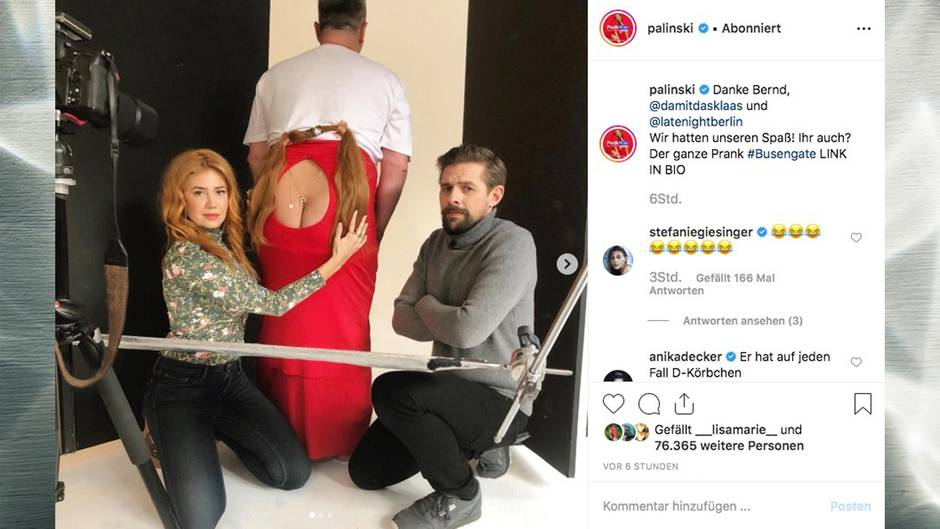 "Palina Rojinski verarscht ihre Instagram-Follower bei ""Late Night Berlin"""