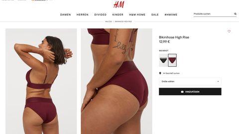 Neue H&M-Bademoden-Kollektion zeigt Model ohne Größe 36