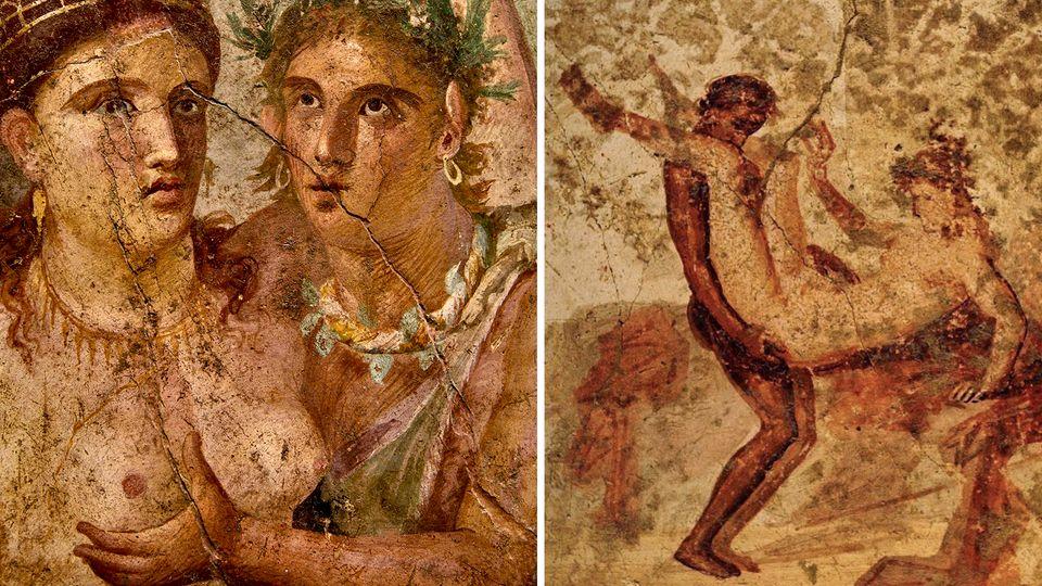 In Pompeji haben sich zahlreiche erotische Darstellungen aus der Antike erhalten.