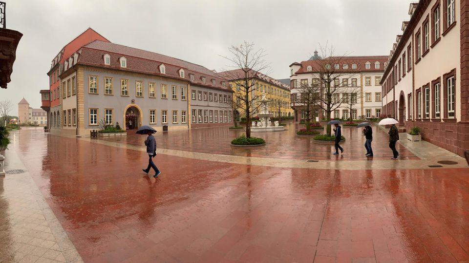 Hinter des Fassaden der Heidelberger Altstadt verbergen sich Huaweis Forschungsanlagen und Büros