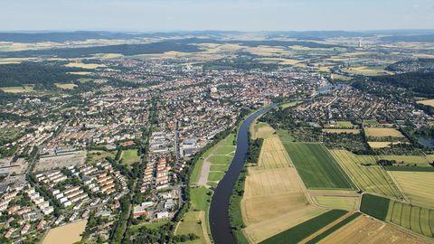 Luftbild von Hameln