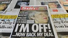Theresa May - Zeitungen zu ihrem Rücktrittsangebot und den Brexit-Deal