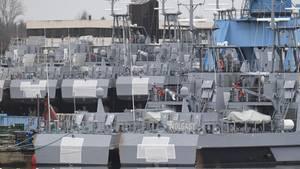 Patrouillenboote für Saudi-Arabien liegen auf Halde