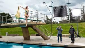 """In dieser Woche mussten die Mädels bei """"GNTM"""" hübsch vom Drei-Meter-Brett springen"""