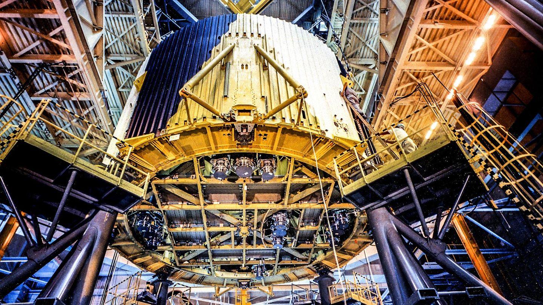 In Nummer drei will man hoch hinaus. Es ist Montagewerk der NASA in der Nähe von New Orleans. Unter anderem gibt es eine 70 Meter hohe, vertikale Montagevorrichtung. Das Gelände ist es fast so groß wie der berühmte Central Park in New York.