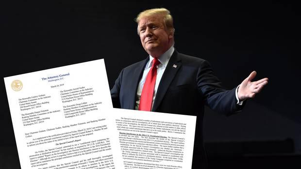Donald Trump: Der Bericht von Robert Mueller ist über 300 Seiten lang - das wirft Fragen auf