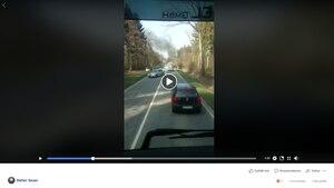 Ein Screenshot des Unfall-Videos