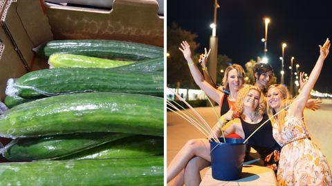 Aldi verzichtet auf Plastikverpackungen für Salatgurken, am Ballermann soll das Saufen auf der Straße aufhören