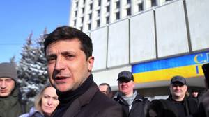 Ukraine-Wahl: Schauspieler Selenski liegt bei Präsidentenwahl vorn
