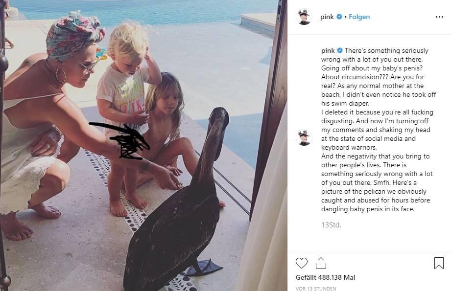 Pink und ihre Kinder auf Instagram