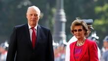 König Harald und Königin Sonja beim Staatsbesuch in Chile