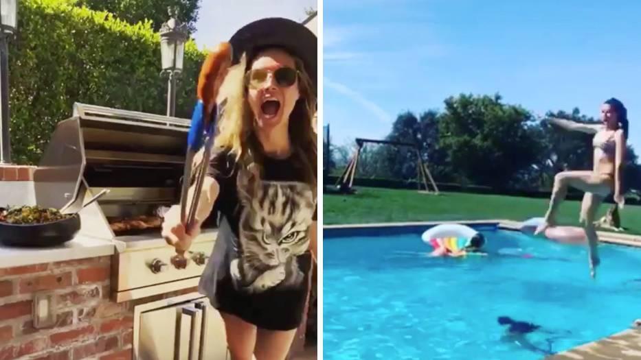 Heidi Klum veranstaltet eine private Poolparty