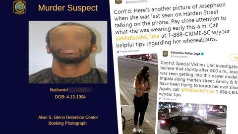 Uber-Irrtum: Nathanial R., Fahndungsaufrufe der Polizei Columbia