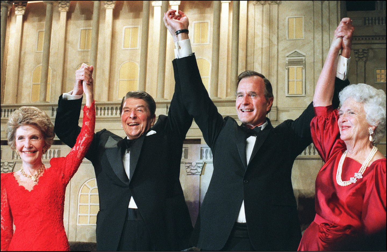 Ronald Reagan mit George Bush Senior