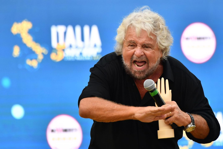 Beppe Grillo auf einer Wahlkampfveranstaltung
