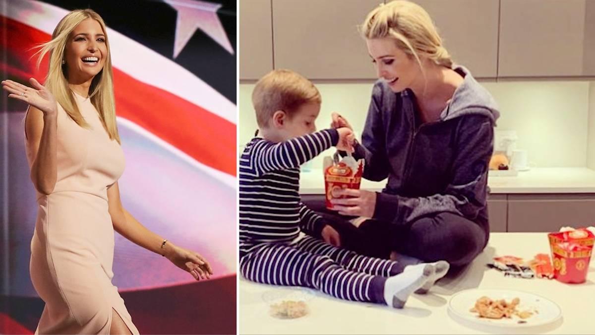 First Daughter: Im Pyjama auf dem Küchentisch: Ivanka Trump gibt seltenen Einblick in ihr Privatleben