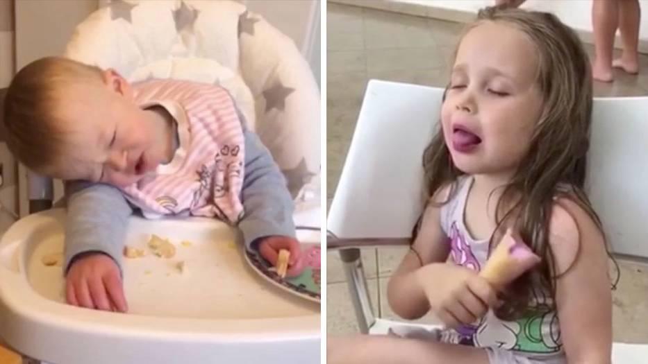 Kampf mit der Müdigkeit: Schlafen geht immer: ziemlich ungewöhnliche Orte, an denen Kinder ein Nickerchen halten