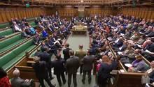 Britisches Unterhaus während der erneuten Brexit-Debatte