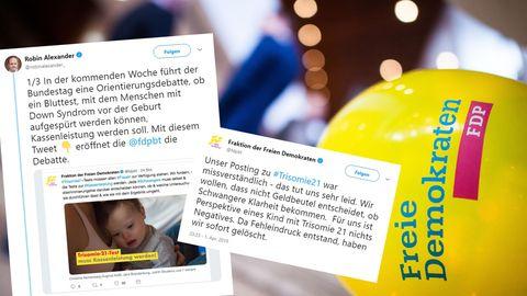 """""""Tut uns sehr leid"""": Scharfe Kritik für FDP-Posting zu Trisomie-21-Test"""