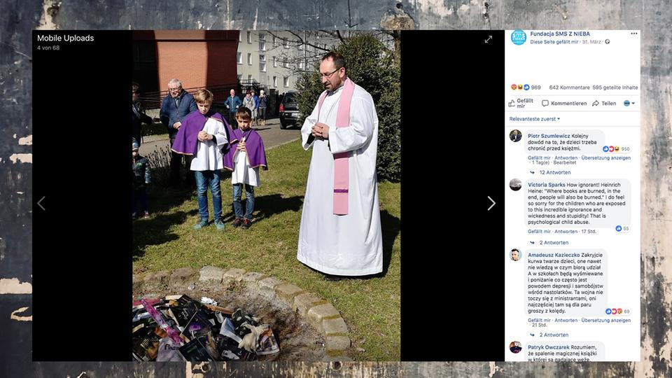 """Polen: Priester verbrennen """"Harry Potter""""-Bücher, um Aberglauben zu bekämpfen"""