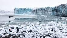 Gletscherbruch verursacht Panik unter Touristenin Island