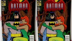 Batman mit Bierbauch und seine Begleitung mit Hüftgold statt Wespentaille.