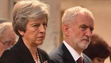 Theresa May und Jeremy Corbyn müssen den Brexit managen