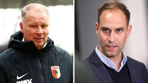FCA-Manager Stefan Reuter (l.) und RB-Geschäftsführer Stefan Mintzlaff