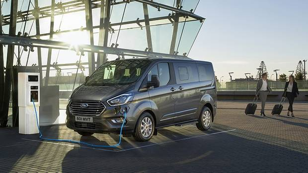 Die elektrischen Antriebsstränge finden auch den Weg in die Nutzfahrzeugsparte: hier der Ford Tourneo Custom
