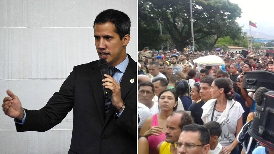 Venezuela: Tausende Venezolaner überwinden Grenze nach Kolumbien – Guaido verliert Immunität