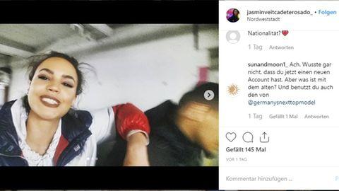 Jasmin von GNTM spricht auf Instagram über den Vorfall mit Lena