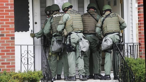 Eine Spezialeinheit zum Stürmen von Wohnungen der US-Polizei (Symbolfoto)