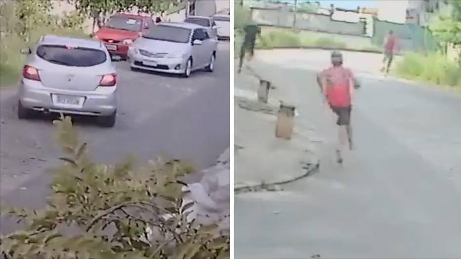 """Brasilien: Möchtegern-Autodiebe fliehen zu Fuß vor ihrem """"Opfer"""""""