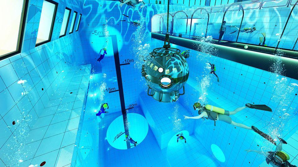 """""""Deepspot"""" Tiefster Pool der Welt in Polen"""