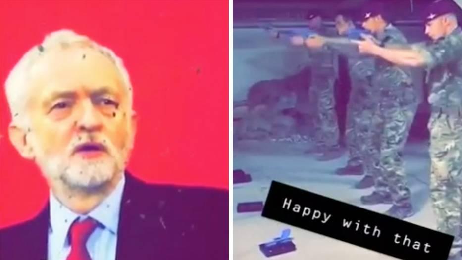 Oppositionschef: Britische Soldaten schießen auf Jeremy-Corbyn-Poster – Video sorgt in Großbritannien für Aufsehen