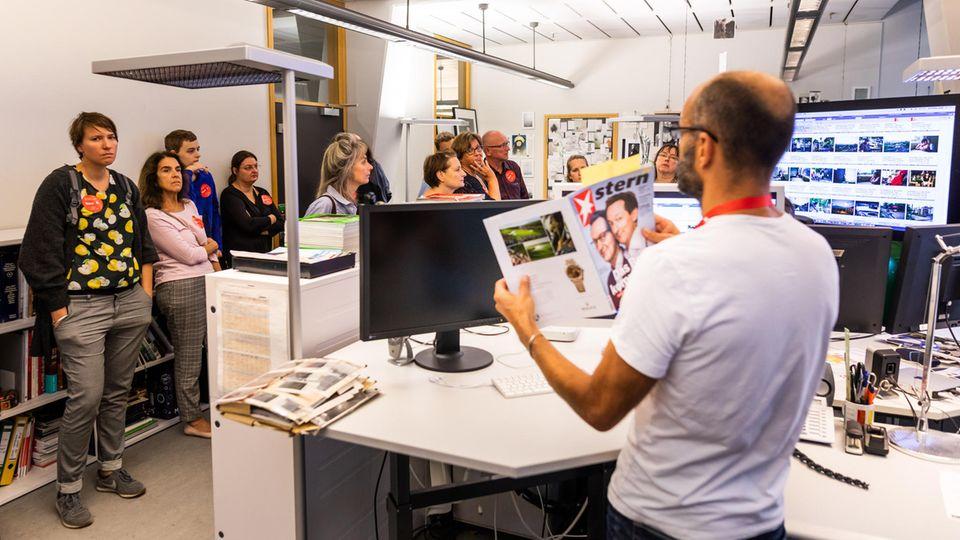 Besucher beim Tag des Journalismus 2018 in der stern-Redaktion