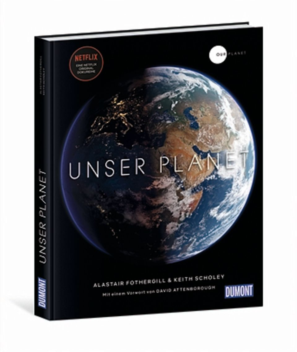 """""""Unser Planet"""", der Bildband zur Dokumentation, ist bei Dumont erschienen und kostet 39,90. Weltweit läuft die Netflix-Serieseit5. April."""