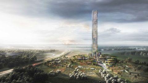 Von der Spitze des Turms aus, wird man ganz Jütland überblicken können.