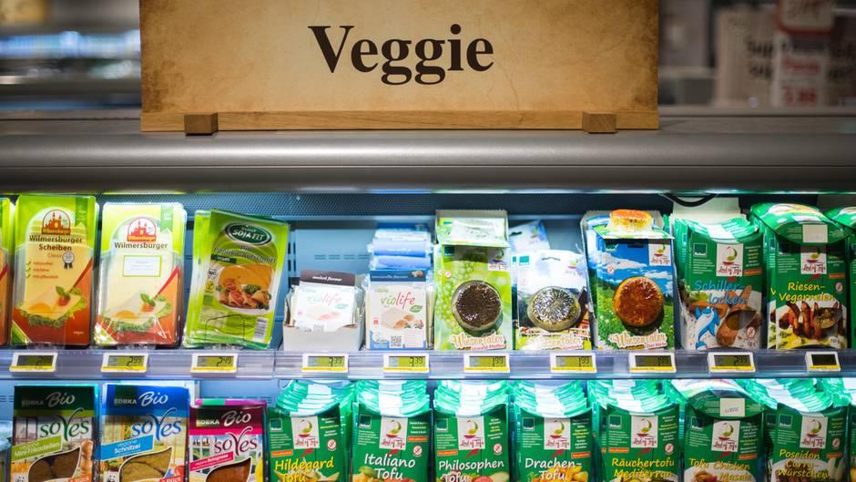Vegetarische Produkte im Supermarkt