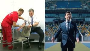 Ukraine: Schlagabtausch zwischen Poroschenko und Selenskij nimmt bizarre Züge an
