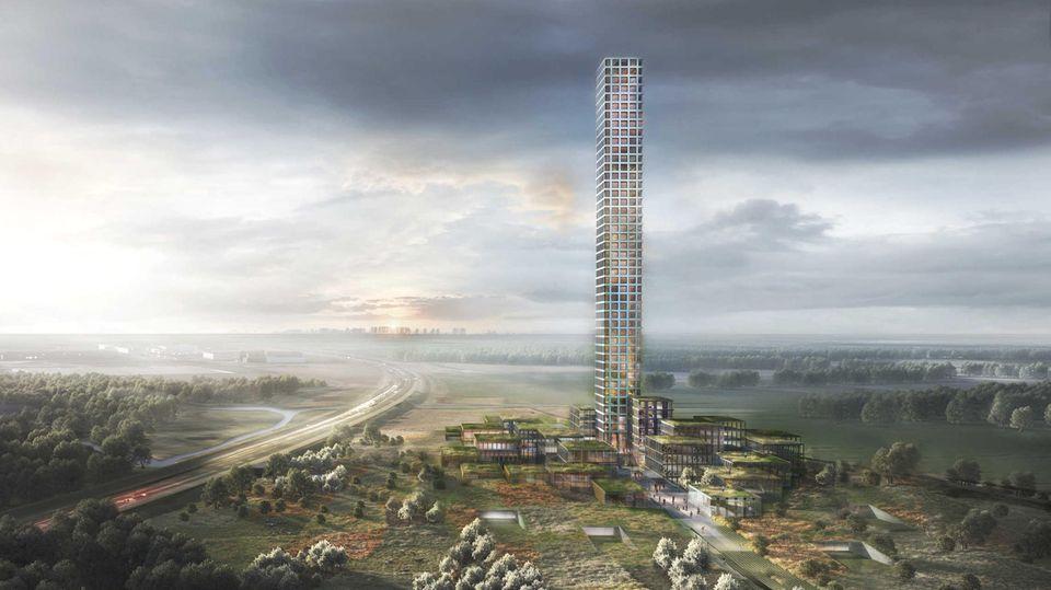 Brande Tower & Village: In Dänemarks Provinz entsteht der größte Wolkenkratzer Westeuropas
