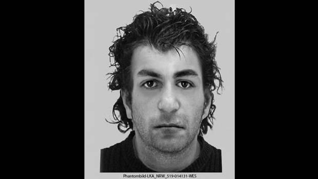 Mit diesem Phantombild fahndet die Polizei nach dem Verdächtigen