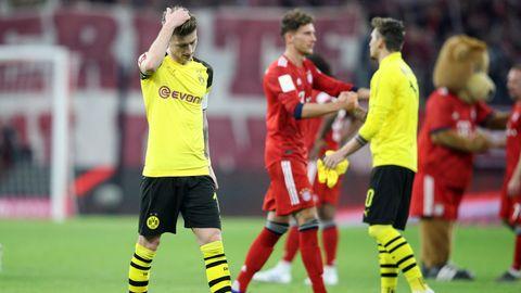 Marco Reus lässt nach der Klatsche bei den Bayern den Kopf hängen