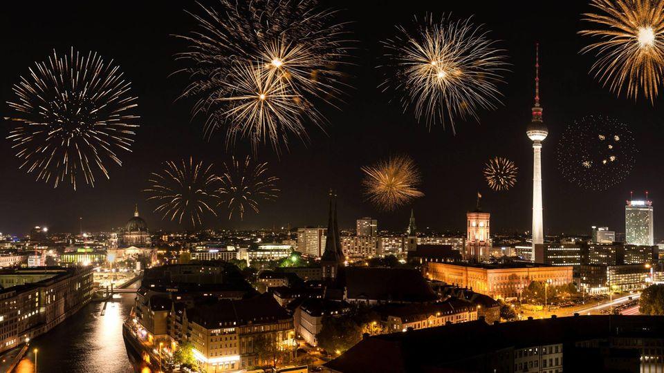 Feuerwerk über Berlin