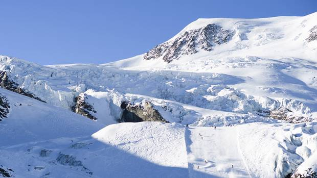 Skigebiet Saas-Fee in der Schweiz